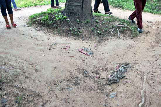 More than 30 years after the Choeung Ek Killing Fields were abandoned, shreds of victims clothing still rise to the surface every day