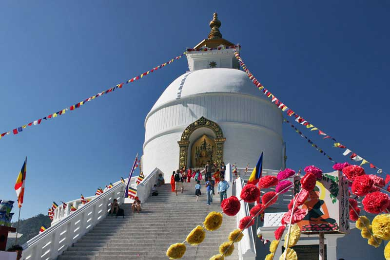 World Peace Pagoda in Pokhara, Nepal
