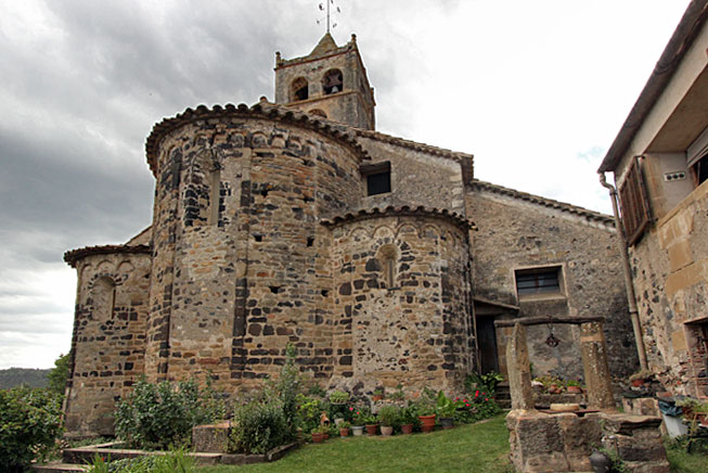 Sant Vicenç Church, site of our gourmet lunch, prepared by the joint restaurant members of the Coal Gastronomy Association, who band together to keep alive the food of the Remença era