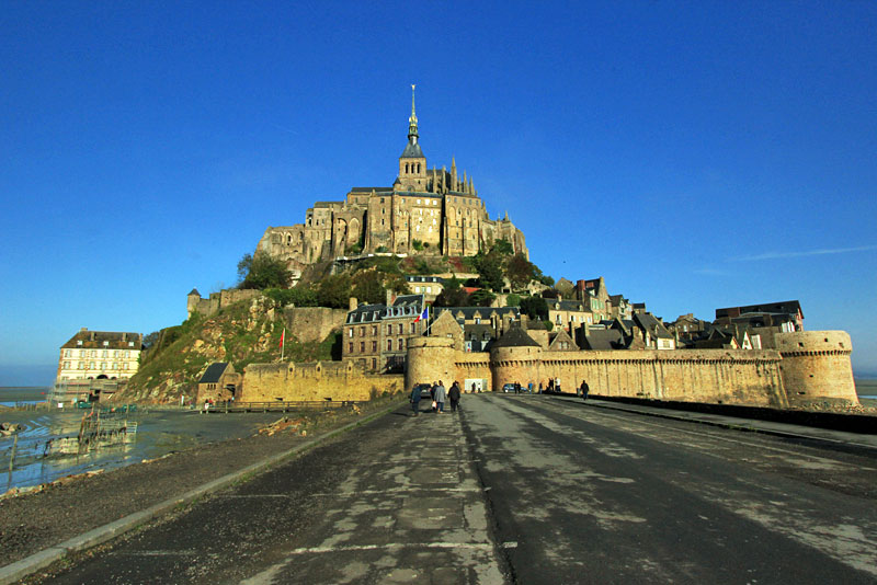 Mont St. Michel Abbey and Fortress Sits on a Small Island, Just Offshore From Normandy, France