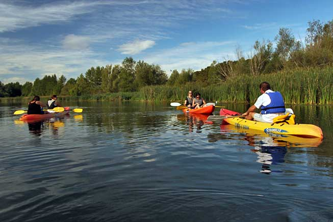Kayaking the River Ter with two local adventure sports companies, Kayak del Ter and Caiac i Natura