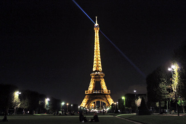 France Paris Eiffel Tower Night
