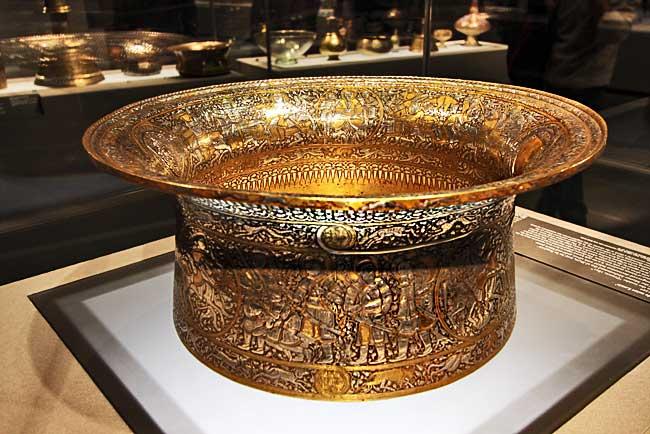France-Paris-Louvre-St-Louis-Metal-Basin-Islamic-Art