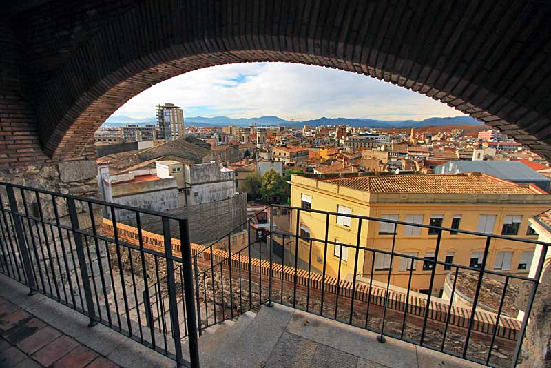 View from a Watchtower on the Old Roman Wall in Girona, Spain
