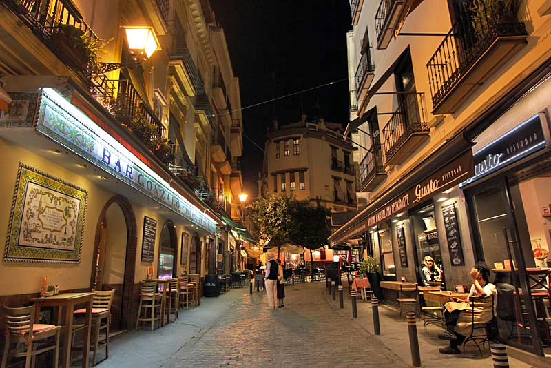 PHOTO: Bars and Cafes around Cathedral Square in Seville
