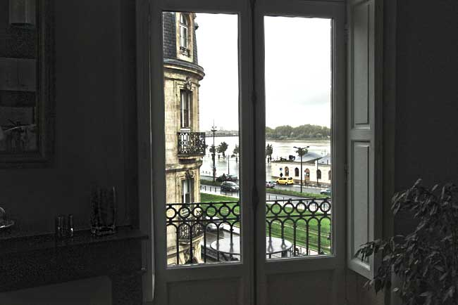 My Home Away Rentals apartment enjoyed lovely views of the Garonne River in Bordeaux Francei