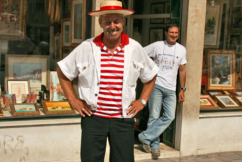 """Gondolier in Venice, Italy Says, """"I'm Too Sexy for My Shirt"""""""