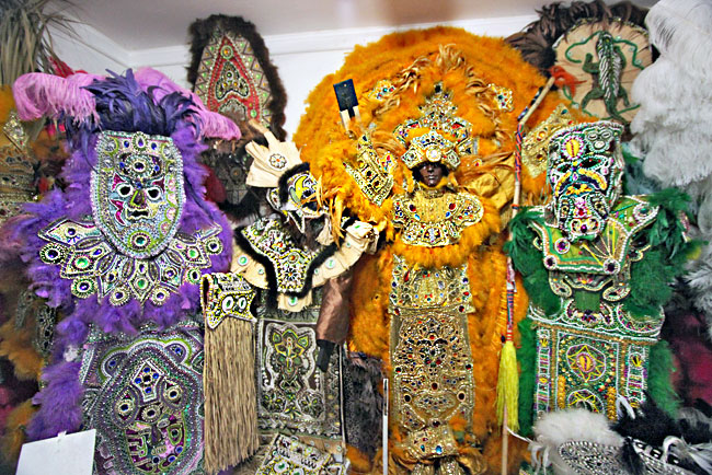 Big Chief costumes take up to a year to make, cost thousands of dolars, and can weigh more than 100 pounds