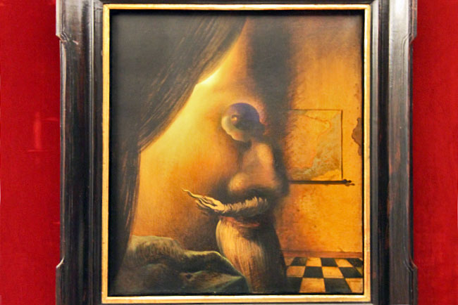 "1938 painting, ""The Image Disappears,"" by Salvador Dali, is an example of paranoid critical method"