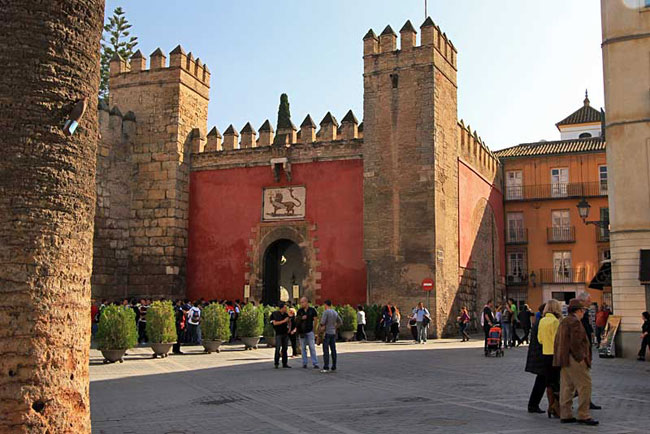 Real Alcazar, the palace where Spanish monarchs stay when visiting Seville Spain