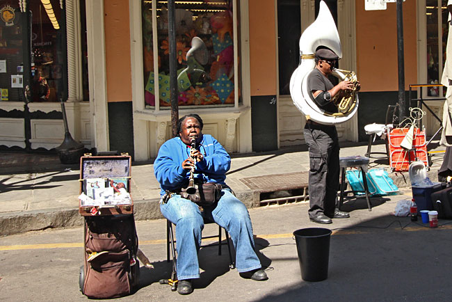 Jazz is alive and well in New Orleans, as evidenced by  Doreen Ketchens of Doreen's Jazz, who plays on the streets of the Crescent City