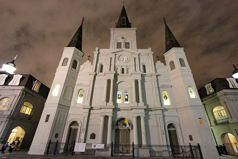 St. Louis Cathedral Dominates Jackson Square in the Center of The French Quarter in New Orleans
