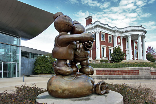 Outdoor sculpture in front of the Hunter Museum of American Art in Chattanooga, Tennessee