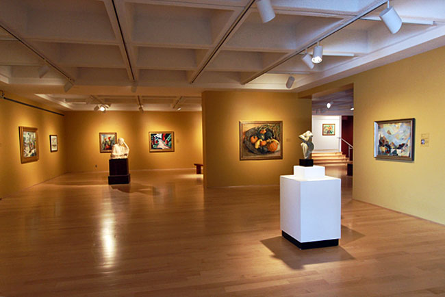 Exhibits at the Hunter Museum of American Art