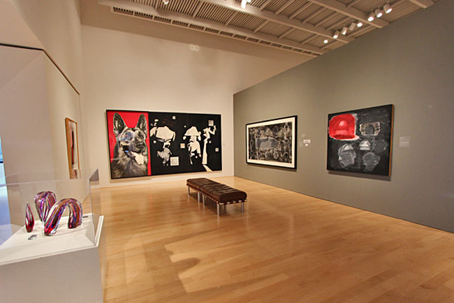 Pop art, an art form developed in American by Americans, on display at the Hunter Museum of American Art in Chattanooga, Tennessee