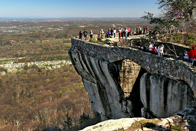 Seven States Can Be Seen From World Famous Lover's Leap at Rock City Gardens in Chattanooga, Tennessee