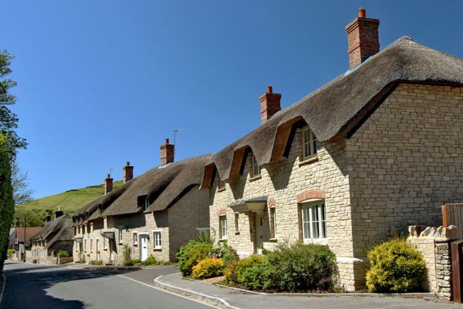 Traditional thatch roofs in the village of West Lulworth are protected and cannot be replaced