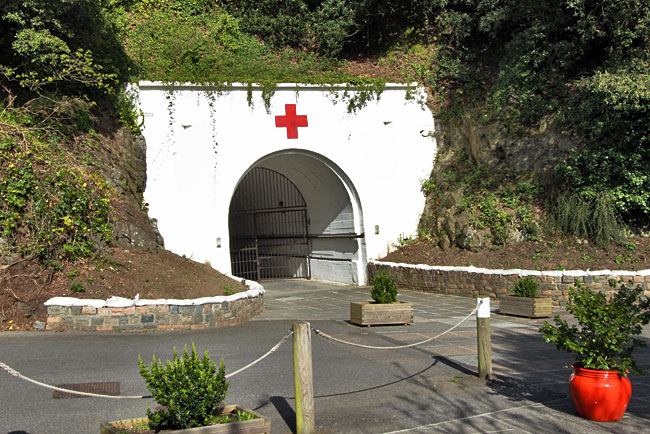 Entrance to the Jersey War Tunnels, a German Underground Hospital constructed between 1941-44 by forced and slave workers