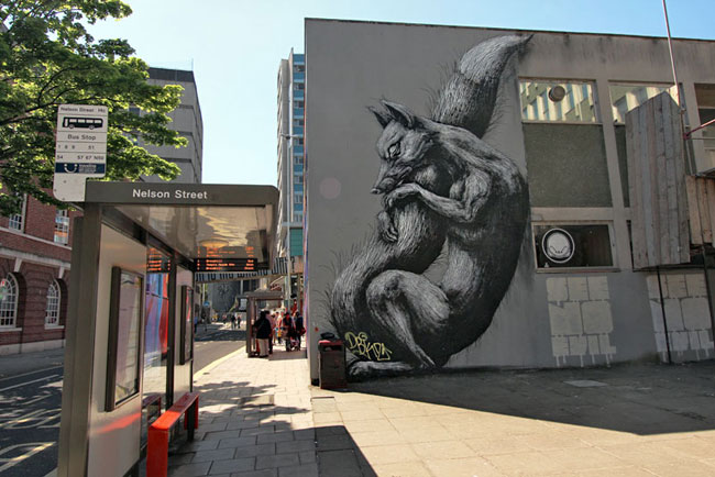 The rat archetype, one of Banksy's favorite motifs, has been widely embraced by other street artists