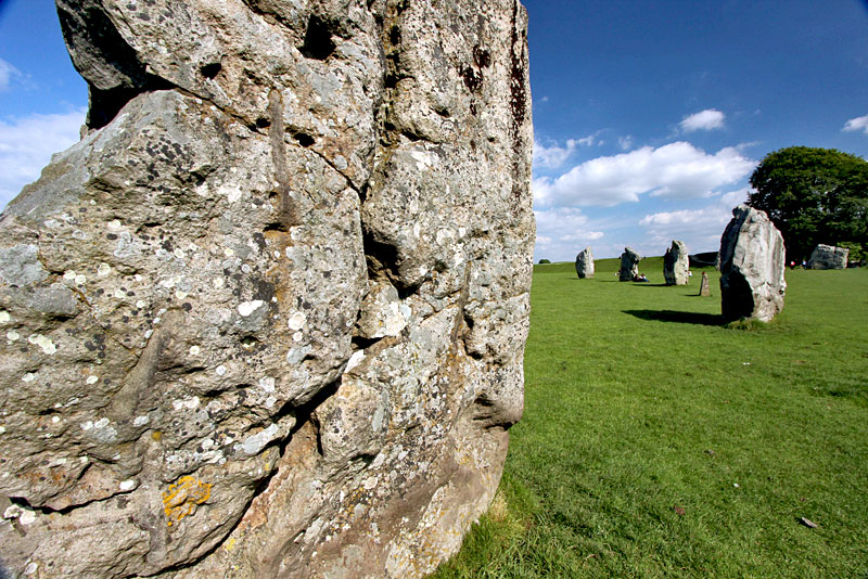 Avebury Henge in Southwest England, the Largest Stone Circle in Europe, Allows Direct Access to the Stones
