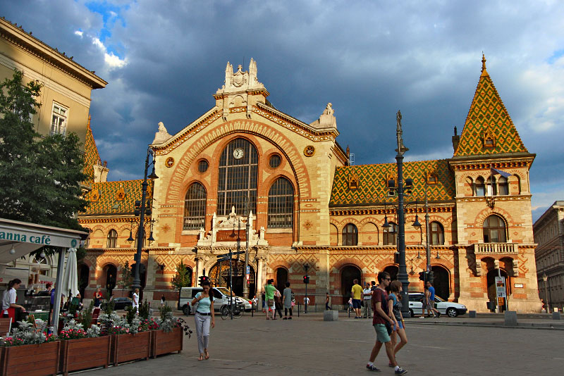 Central Market in Budapest Hungary