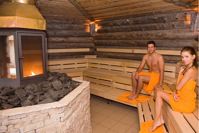 Sauna World at Termy Maltanskie, the largest indoor water park in Poland, is located on the north shore of Malta Lake in Poznan. Photo courtesy of Termy Maltanskie.