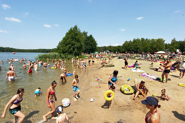 Strzeszynskie Lake, just outside of Poznan, is a favorite with beach-goers