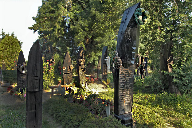 Boat shaped headstones in Szatmarcseke, Hungary are thought to be found nowhere else in the world