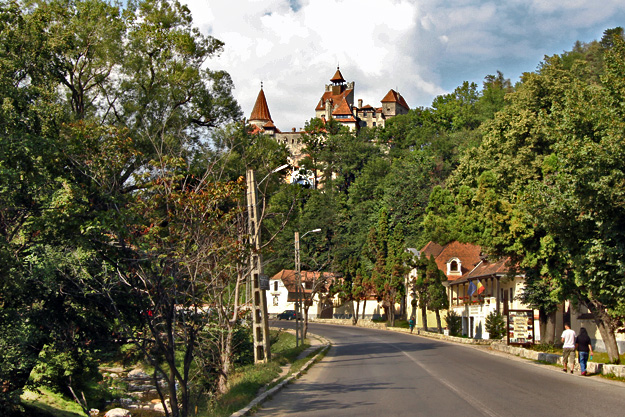 Bran Castle, made famous by Bram Stocker's Dracula attracts tourists far and wide