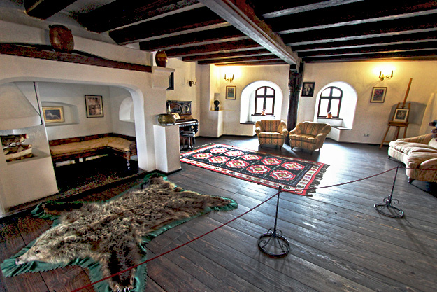 The only decently decorated room in Bran Castle, which, despite the media hype, was never home to Dracula