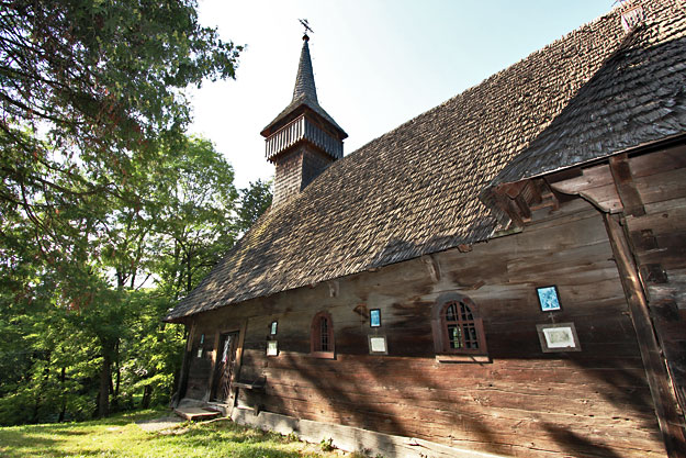 The old wooden church in Breb, Romania