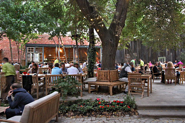 Newly opened open-air Boema Cafe in Cluj-Napoca