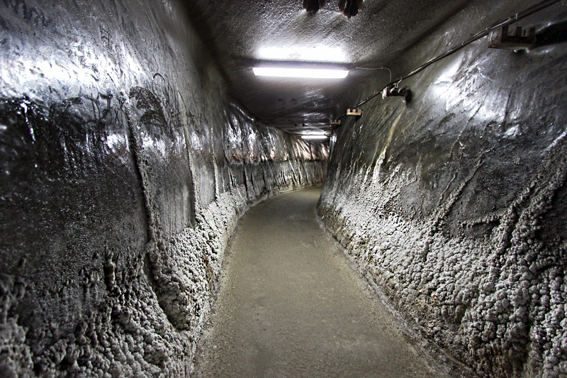 Franz Josef Gallery at the Salina Turda Mine in Turda, Romania, Was Built to More Easily Convey Salt Blocks to the Surface