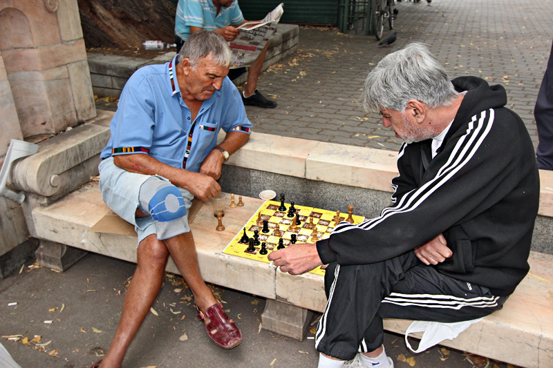 Bulgaria-Sofia-Ivan-Vasov-Garden-Chess-Players