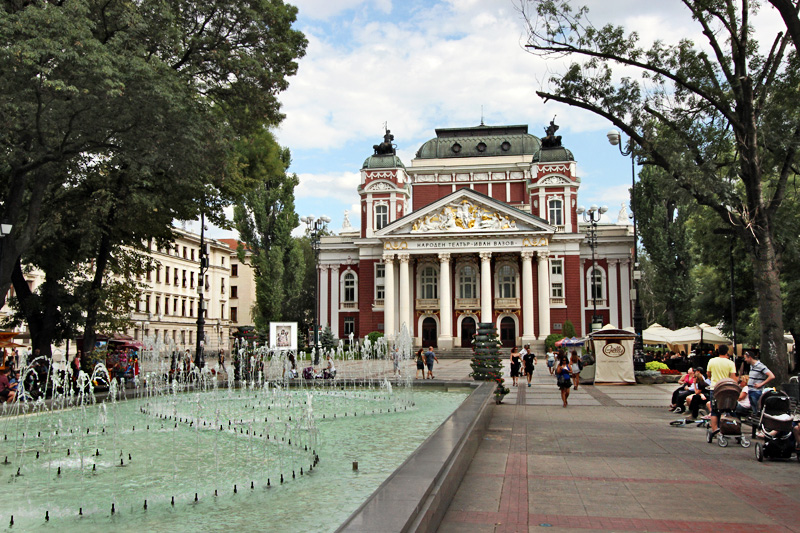 Bulgaria-Sofia-Ivan-Vasov-Garden-and-National-Theatre