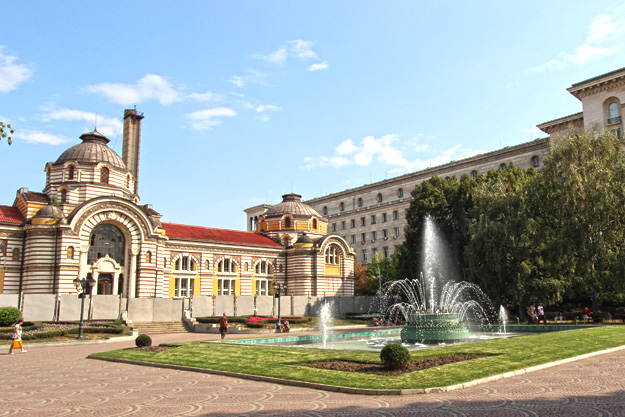 The Old Central Mineral Baths building is being renovated for a museum Sofia Bulgaria