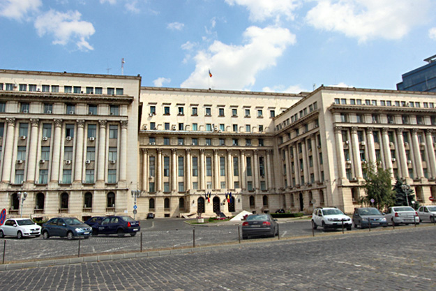 Old Communist Central Committee building where Nicolae Ceausescu made his last speech in 1989, is now the Ministry of Interior