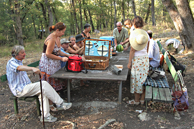 Traditional English picnic in the woods with expats and the mayor of Yasna Polyana, Bulgaria