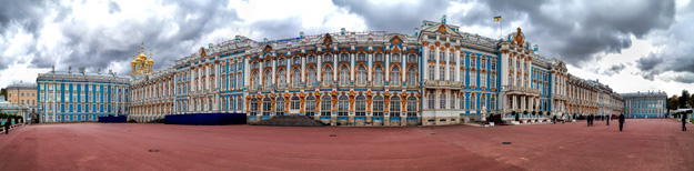 The magnificent Catherine Palace in St. Petersburg