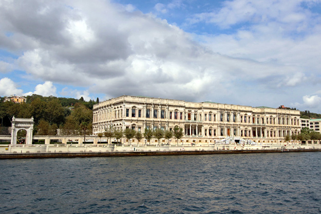 Dolmabahce Palace mingles Neo-Classical, Rococo, Baroque, and Empire architectural styles