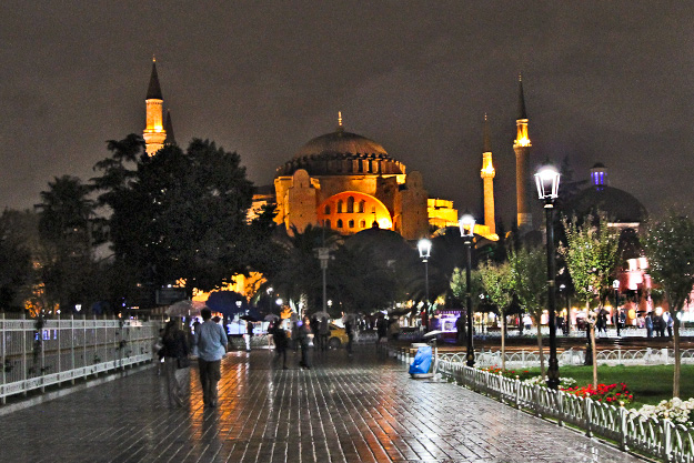 Hagia Sophia, originally a Greek Orthodox basilica, was converted to a Mosque during the Ottoman Empire. Today it serves as a museum.