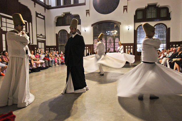 Ritual whirling of the dervishes