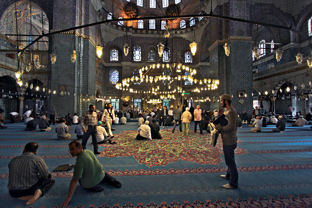 Afternoon prayers at the New Mosque