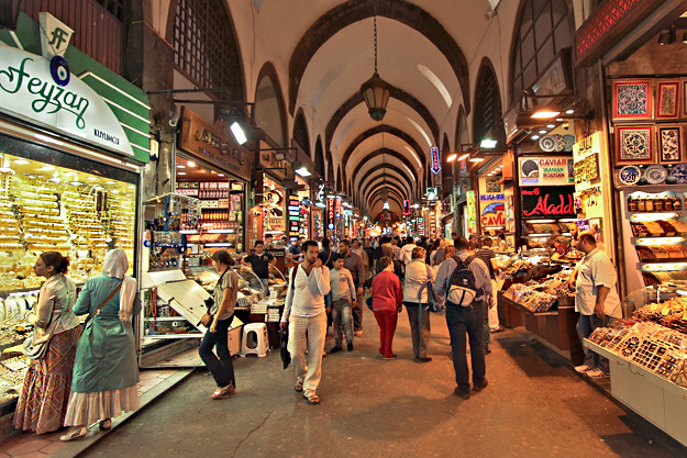 The Spice Market in the Old Town area of Istanbul