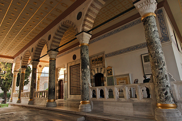 Audiences with the Sultans were held at the Chamber of Petition at Topkapi Palace
