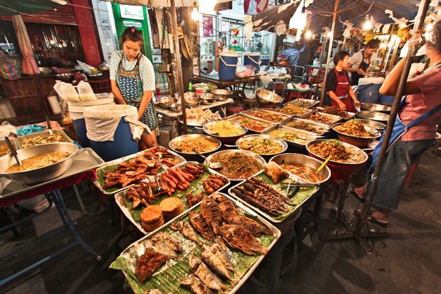 Street food vendor at Chiang Mai Gate, in Chiang Mai, Thailand