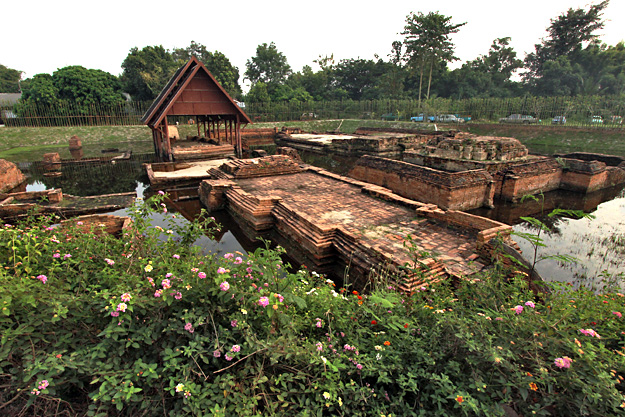 Ku Par Dom temple in the ancient underground city of Wiang Kum Kam near Chiang Mai, Thailand