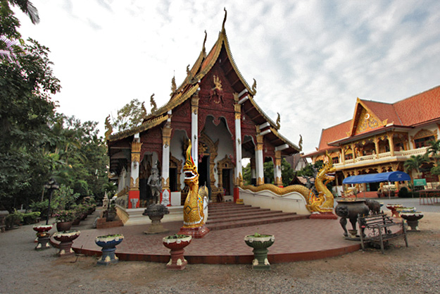 Prayer Hall (Viharn) at Wat Chedi Kam complex in the ancient underground city of Wiang Kum Kam