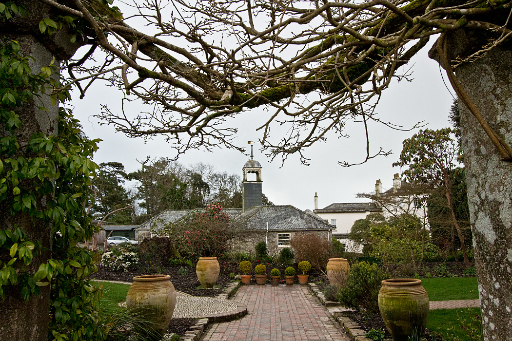 Serene scene at Lost Gardens of Heligan as spring arrives in Cornwall, England