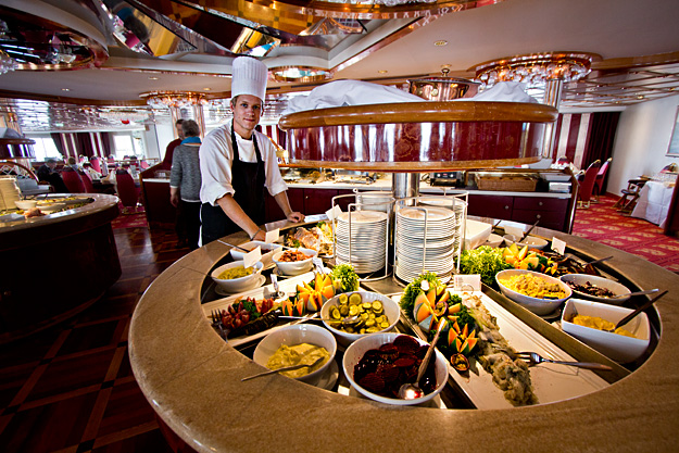 One of Hurtigruten's lavish buffets